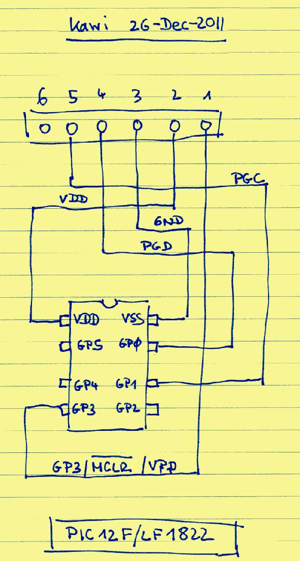 PIC 12LF1822 test board