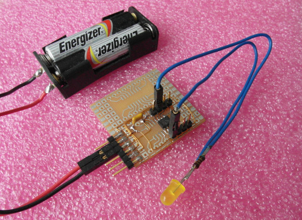 PIC 12LF1822Board with LED