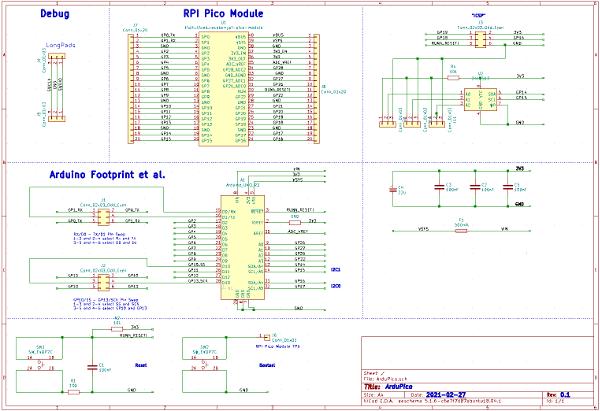 ArduPico - Arduino-style Carrier for the Raspberry Pi Pico